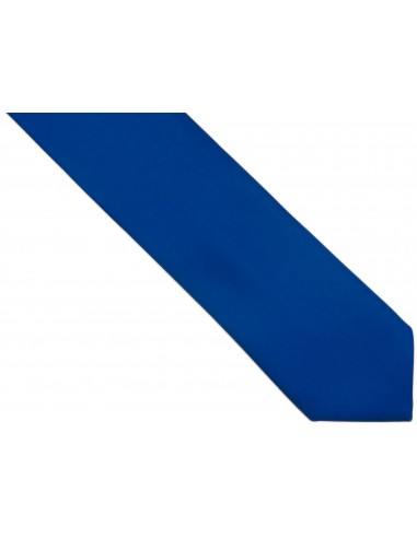 Niebieski krawat z poszetką - kobalt