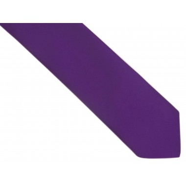 Fioletowy krawat z poszetką