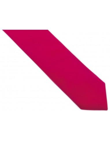 Różowy krawat z poszetką (amarant)