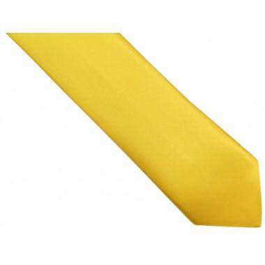 Żółty krawat z poszetką