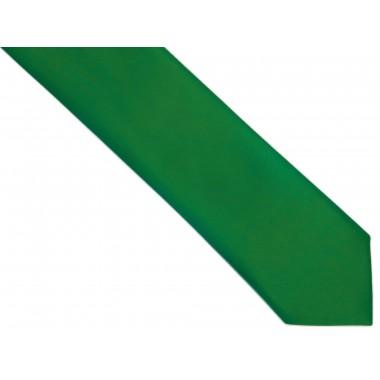 Zielony krawat z poszetką