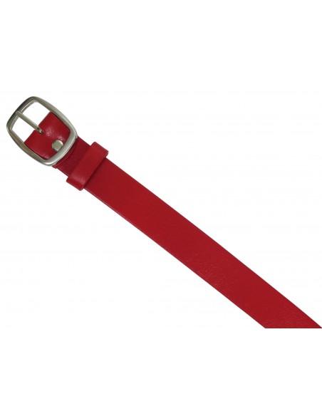 Czerwony pasek damski PD1