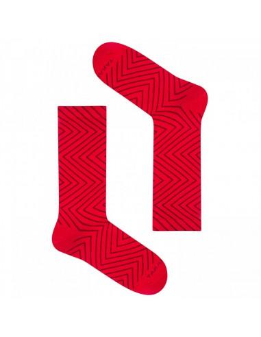 Czerwone skarpetki takapara - krzywe linie TP7