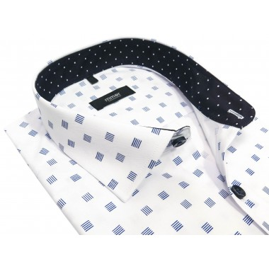 Koszula męska w kwadraty Mmer A005