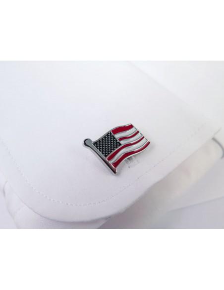 Spinki do mankietów - flaga USA U221