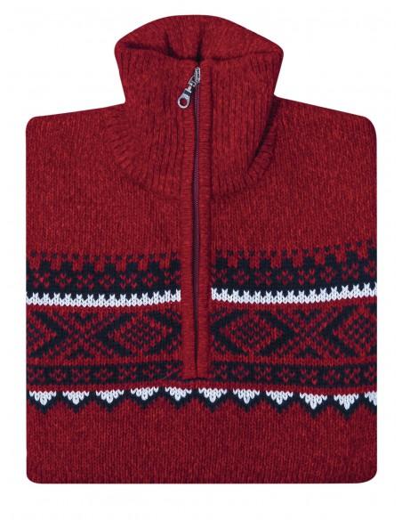 Ciepły sweter męski z norweskim wzorem SW50