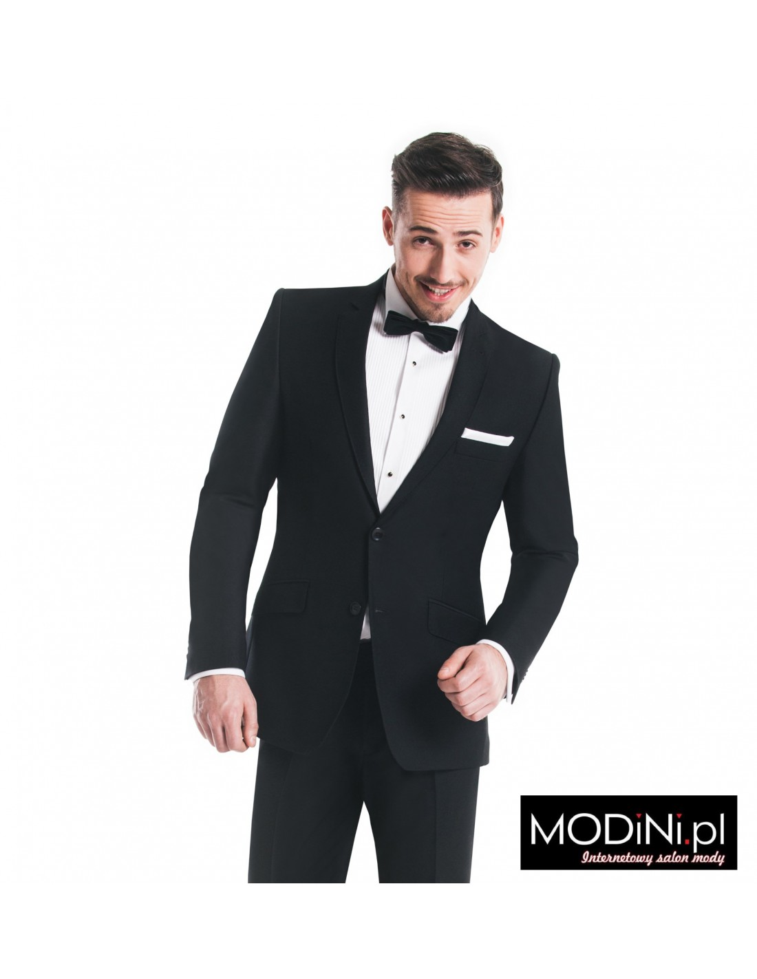 8bbe97292d4f1 Czarny garnitur męski - slim | Sklep Internetowy Modini.pl