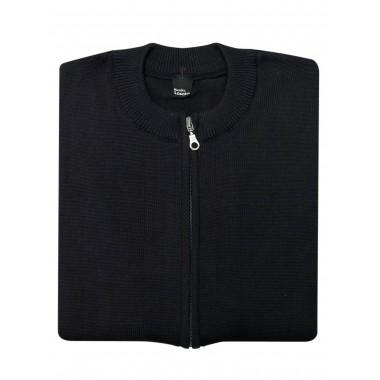 Czarny sweter rozpinany na zamek SW51