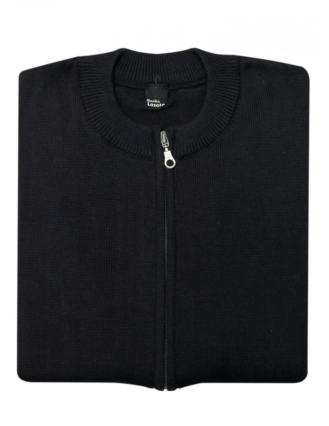 Czarny sweter rozpinany na zamek SW51 Rozmiar swetra Wybierz rozmiar