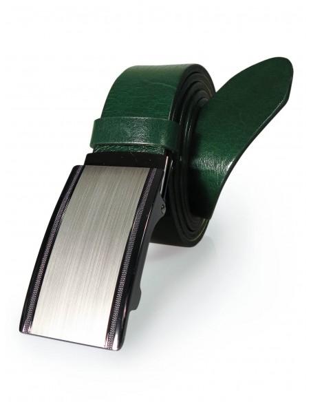 Zielony męski pasek z automatyczną klamrą KMG40