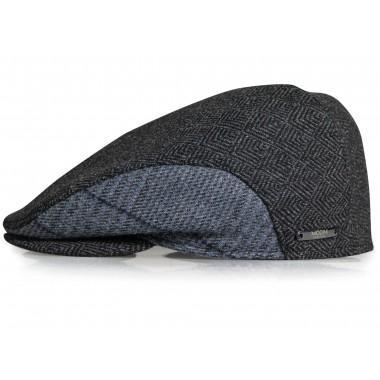 Szary kaszkiet/czapka męska w jodełkę G16
