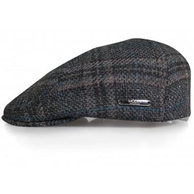 Szary kaszkiet/czapka męska w kratę G17
