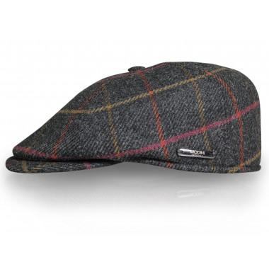 Kaszkiet/czapka męska w kratę G19