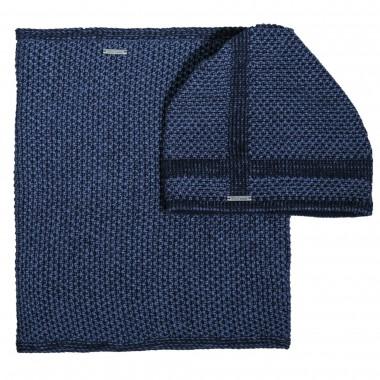 Niebieski zestaw czapka + komin CZ3
