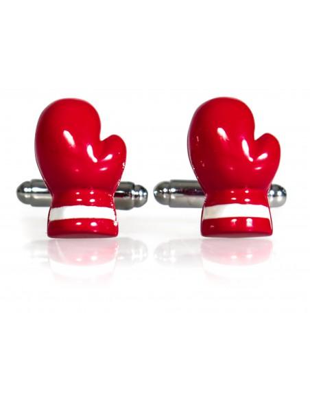 Spinki do mankietów - czerwone rękawice bokserskie A176