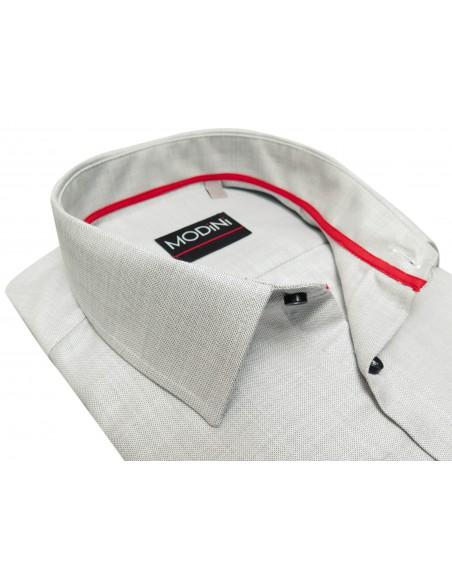 Jasnoszara koszula męska z kieszonką A45