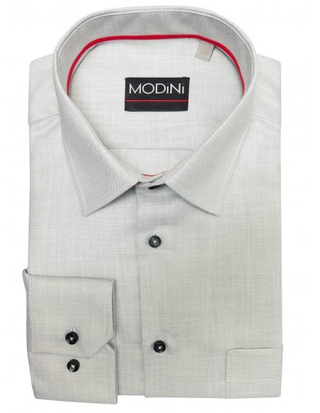 Jasnoszara koszula męska z długim rękawem A45