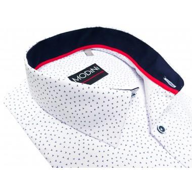 Biała koszula męska we wzór A44