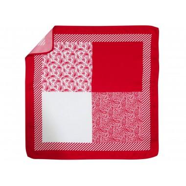 Czerwona poszetka w 4 wzory E238