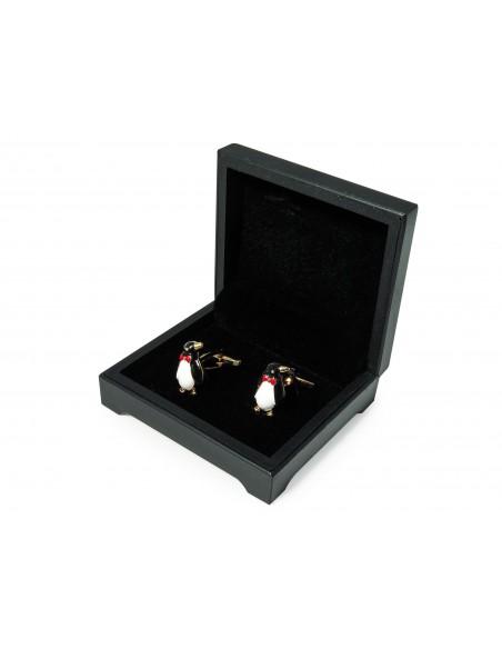 Spinki do mankietów - pingwiny z muchą N139