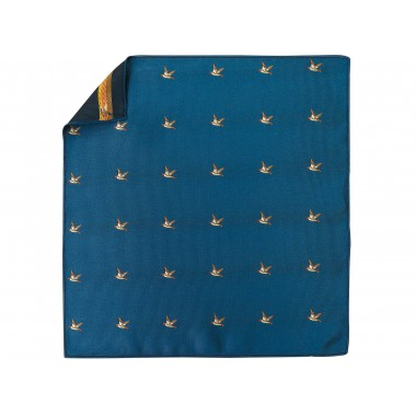 Niebieska poszetka w kaczki E251