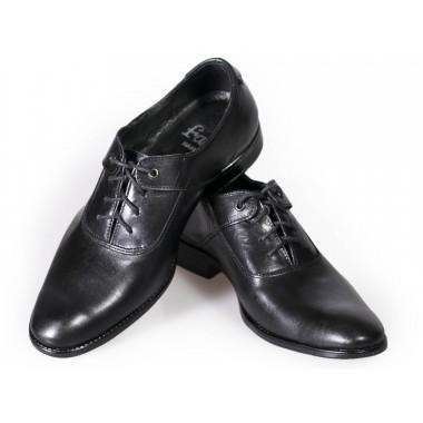Czarne półmatowe dziecięce buty wizytowe BD5