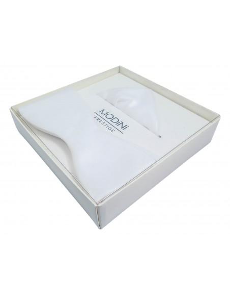 Biała mucha męska wiązana - M21