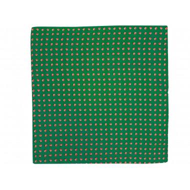 Zielona jedwabna poszetka w brzoskwinie EJ19
