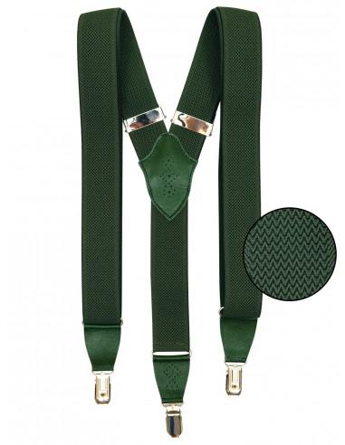 Zielone szelki z ażurowymi skórkami SZ99