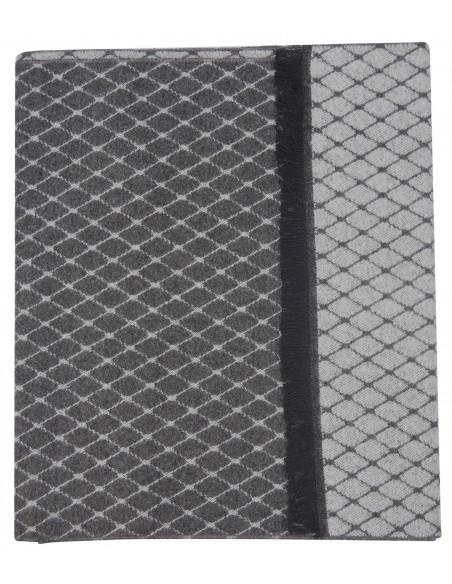 Szary szalik męski w romby I49
