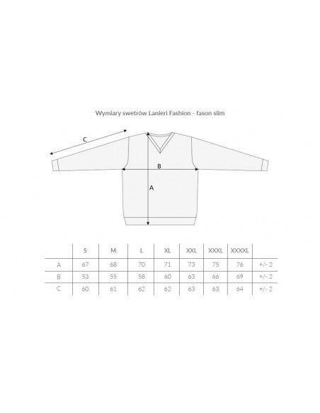 Grafitowy sweter męski SW4