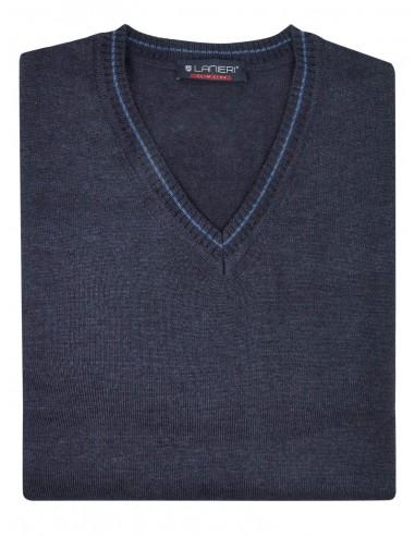 Grafitowy sweter męski SLIM SW56