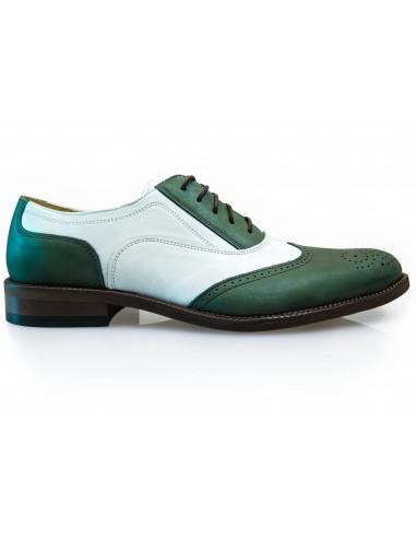 Zielono-białe obuwie męskie T100