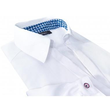 Biała damska koszula z podwijanym rękawkiem 3/4 Senso DK2