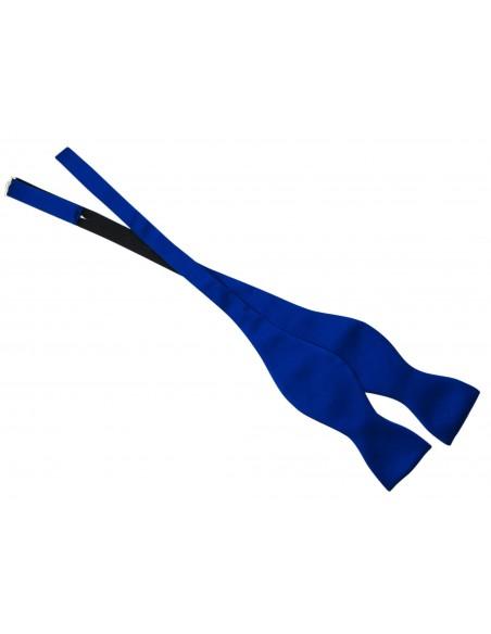 Niebieska mucha wiązana z poszetką M11