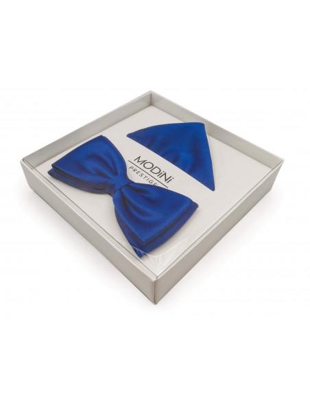 Niebieska szeroka mucha męska - kobalt 8