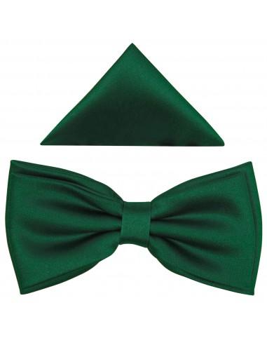 Ciemno - zielona szeroka mucha męska B20