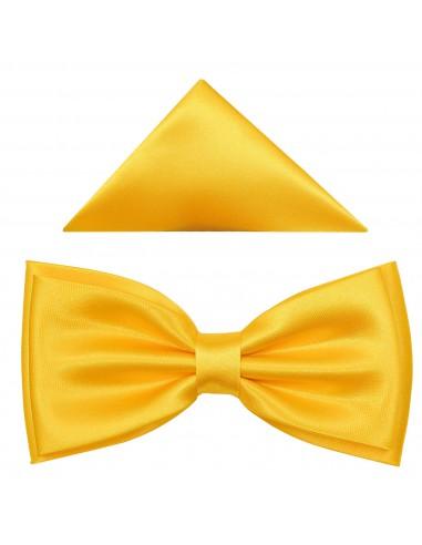 Żółta szeroka mucha męska B26