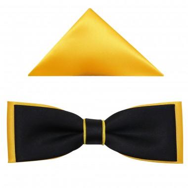 Czarno-żółta muszka fason slim