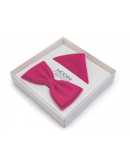 Różowa szeroka mucha męska - amarant 5