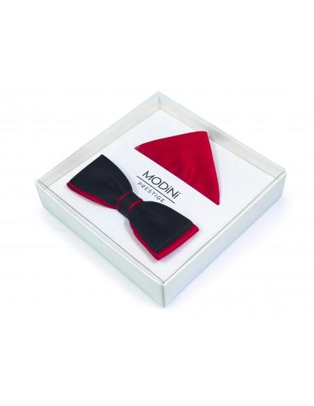 Czarno-czerwona mucha męska SLIM B45