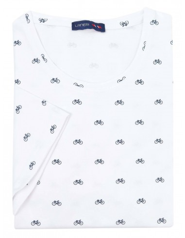 Męska biała koszulka T-shirt w samochody KTS2