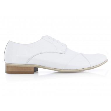 Białe lakierki męskie Faber - buty wizytowe