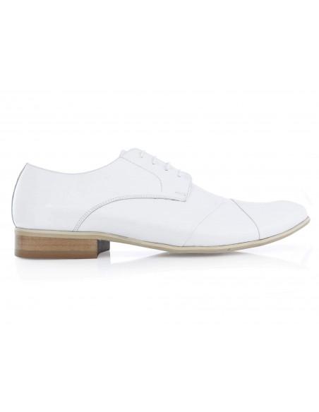 Białe lakierki męskie Faber - buty wizytowe T34