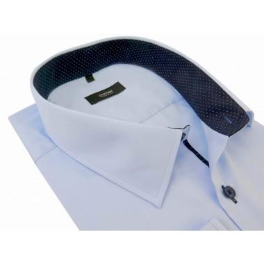 Błękitna koszula z długim rękawem Mmer 202