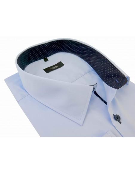 Błękitna koszula z długim rękawem Mmer 071