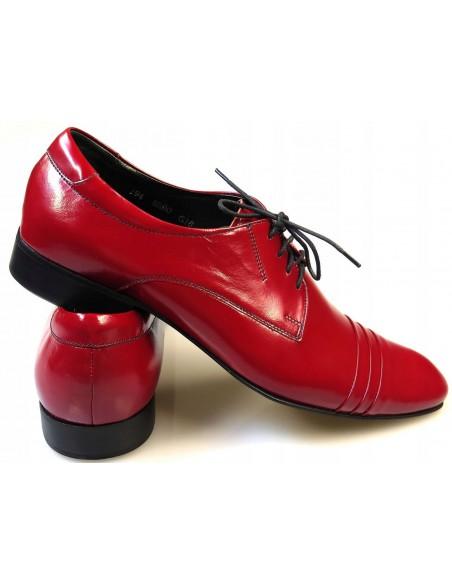 Czerwone buty męskie wizytowe