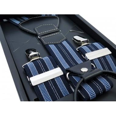 Szelki w niebiesko-granatowe paski SZ33
