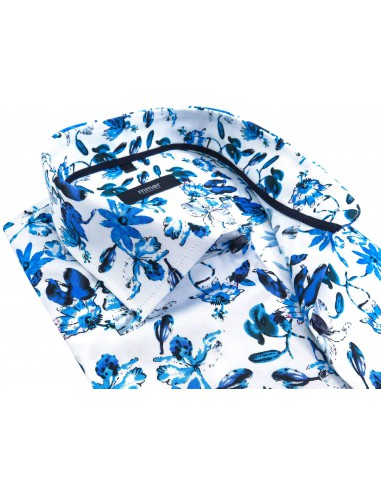 Biała koszula w niebieskie kwiaty...