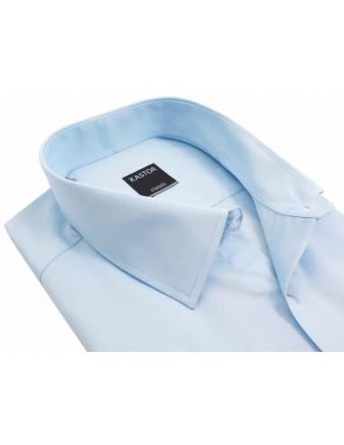 Błękitna koszula z krótkim rękawem K80